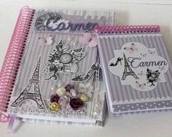 Kit Agenda Di�ria Paris + Bloquinho
