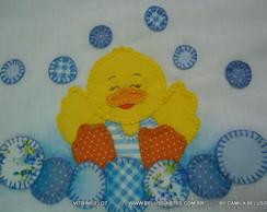 1 Toalha Banho do Beb� Bordada Patchwork