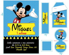 Kit Mickey Mouse Azul (mm01)