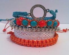 Mix de pulseiras Santorini