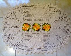 Tapete Oval em Croch� com Flores 2