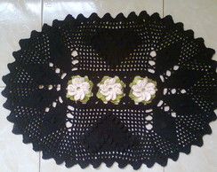 Tapete Oval em Croch� com Flores 3