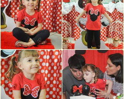 Camiseta vermelha Minnie!