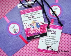 Convite Credencial - Barbie