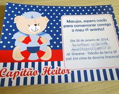 Convite Tema Urso Marinheiro