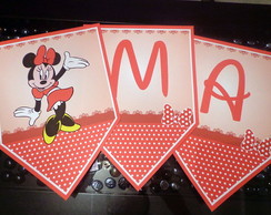 Bandeirolas Tema Minnie vermelha