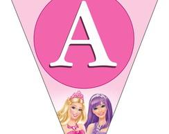 Bandeirola - Barbie Princesa E A Popstar