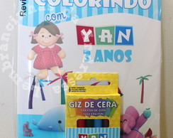 Kit Colorir Com Giz POCOYO