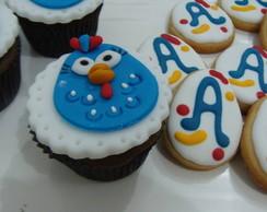 Cup cake e cookies Galinha Pintadinha
