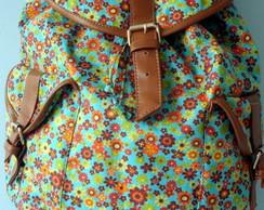 Mochila 2 Bolsos Floralzinho
