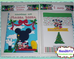 Kit Colorir  Com Capa - casa do mickey