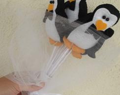 "Buqu� de casamento ""Pinguins"""