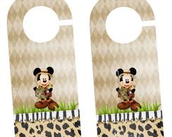 Aviso De Porta Mickey Safari