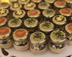 Mini vidros para doces - Tema Safari