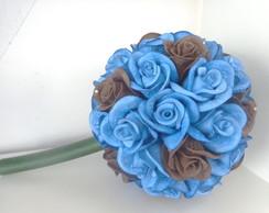Buqu� de Rosas Azul e Marrom
