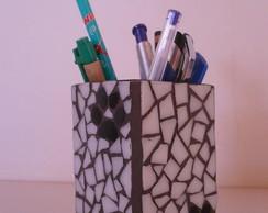 Porta canetas - Mosaico Patinhas