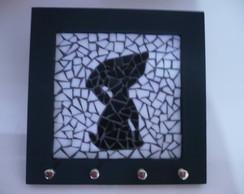 Porta chaves - Mosaico cachorro