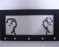 Porta Pano de Pratos - Mosaico Pinguim