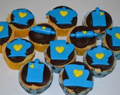 Cupcake Ch� de cozinha e Panelas