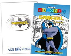 Kit Colorir Pocket C/ Giz De Cera Batman