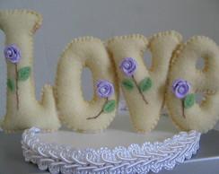 Topo de bolo de Casamento LOVE