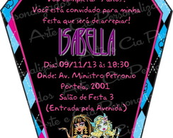 Convite Caix�o Monster High c/ envelope