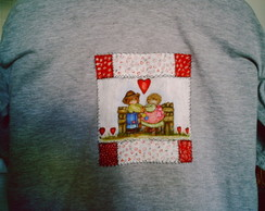 Camiseta pintada a m�o - Falso pathwork