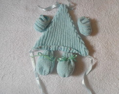 Kit com touca, luva e sapato para beb�