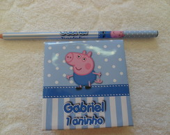 Notepad + L�pis Peppa - George