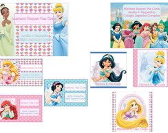 Etiquetas Escolares Princesas