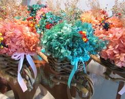 Carriola De Hort�ncia & flores secas I