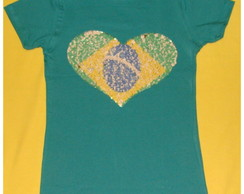Camiseta Baby Look do Brasil