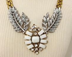 10259 - Colar pedraria prata com asas