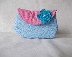 Mini Clutch Rosa e Azul