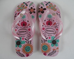 Chinelo Havaianas Infantil Strass