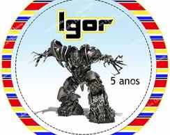 Latinha Transformers 7cm