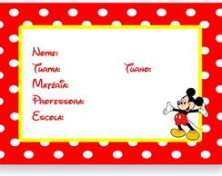 Mickey etiqueta escolar