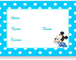 Mickey Baby Etiqueta Escolar