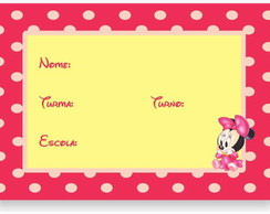 Minnie Baby Etiqueta Escolar