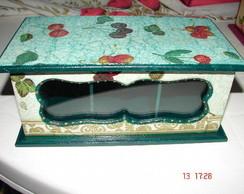 Caixa de ch� Frutas - Verde