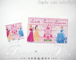 Kit etiqueta escolar PRINCESAS