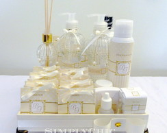 Kit Toilette Amarelo e Off-White