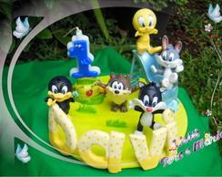Looney tunes baby topo de bolo