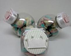 Mini baleiro plastico decorado ou liso