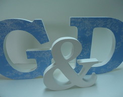 Letras Decorativas com tecido