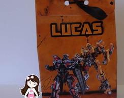 """Caixa Tipo Saquinho """"Transformers"""""""