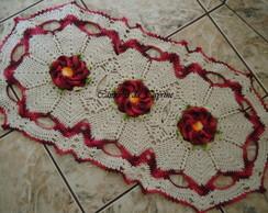 Tapete oval com flor Cam�lia