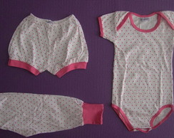 Conjunto de body, short e cal�a