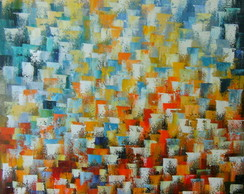 Abstrato Vertical 70x100 Cod 674