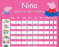 QUADRO DE REGRAS PEPPA PIG